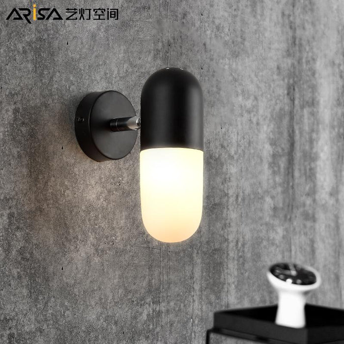 LED Nordic Modern wall sconces Iron living room Wall lights Bar Lighting  bedroom Fixture Novelty Cafe wall lamps