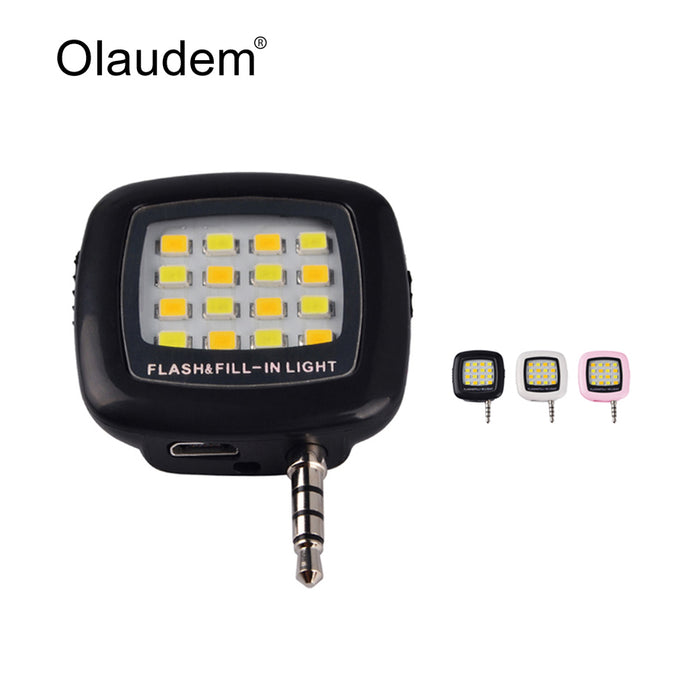 Light Flash 7 Lamp Selfie Huawei 3 Rechargeable Lp1278 7plus Xiaomi 5mm Plug For 6s Jack Phone 6 Night Iphone Led 1F35TKJcul