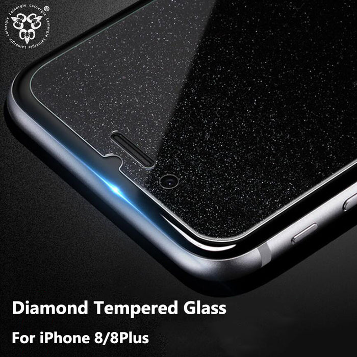 pretty nice 8ad06 a833a Lainergie HD Diamond Glitter Tempered Glass Screen Protector Bling  Protective Film Cover For iPhone 8 Plus Protection Glass