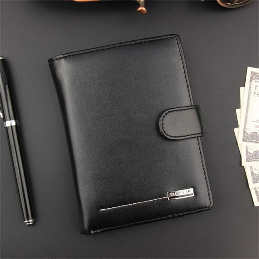 Large Capacity PU Leather Passport Cover ID Business Card Holder Travel Credit Wallet For Men Purse Case Driving License Bag