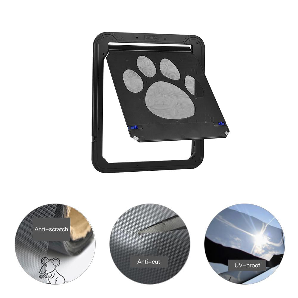 Lockable Cat Flap Door Pet Door Automatic Dog Cat Door Magnetic