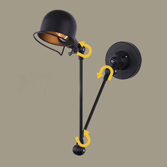 Loft American Retro Style Robot Arm Industrial Wall Lamp Folding Creative  Light For Bedroom Living Room Dining Room