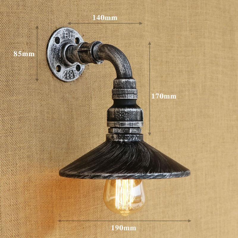 Loft Retro Wall Light American Style Edison Wall Lights Simple Pipe ...