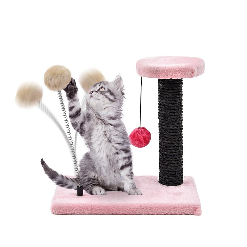 Lovely Cat Toys Spring Ball Toys Cat Tree Kitten Climbing Frame ...