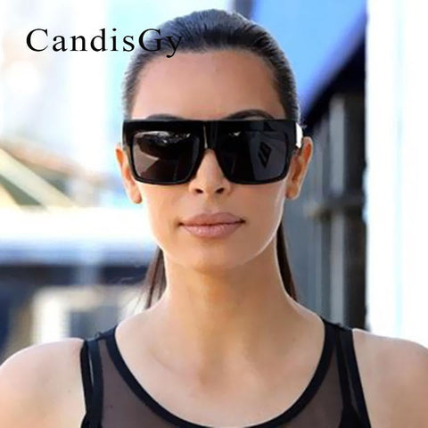 Luxury Brand Designer Kim Kardashian Shades Fat Top Sunglasses Women Retro  Sun Glasses for Men Gafas Oculos De Sol Feminino