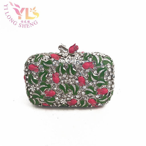 Luxury Diamond Womens Hand Bags Designers Event  Women Rhinestone Crystals Beaded Event Clutches Evening Bags YLS-F39