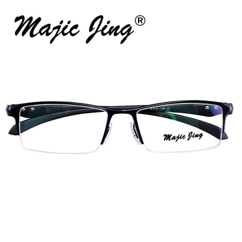 Magic Jing P9065 half rim men style stainless steel and TR RX optical frames myopia eyewear eyeglasses prescription spectacles