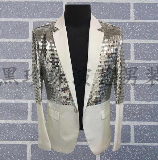 Male Paillette Suit Mens Costume Male Costumes Groom Blazers Men Married Suits Masculino Homme Terno Stage Costumes For Singers