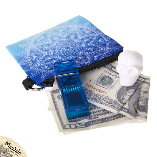 Mandala Ombre Blue Mini Wallet 2018 Fashion Prints Women Purse Holder Small Zipper Coin Purse Female Money Bags
