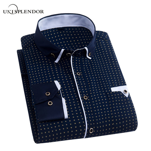 Men Dress Shirt 2018 Spring New Arrival Button Down Collar High Quality Long Sleeve Slim Fit Mens Business Shirts S-4XL YN026