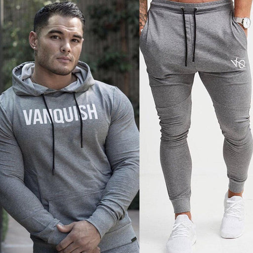 Men Hoodies Pants Sets Casual Fashion Sportswear Sweatshirt Sweatpants Male Gyms Fitness Joggers Cotton Tracksuits Brand Apparel