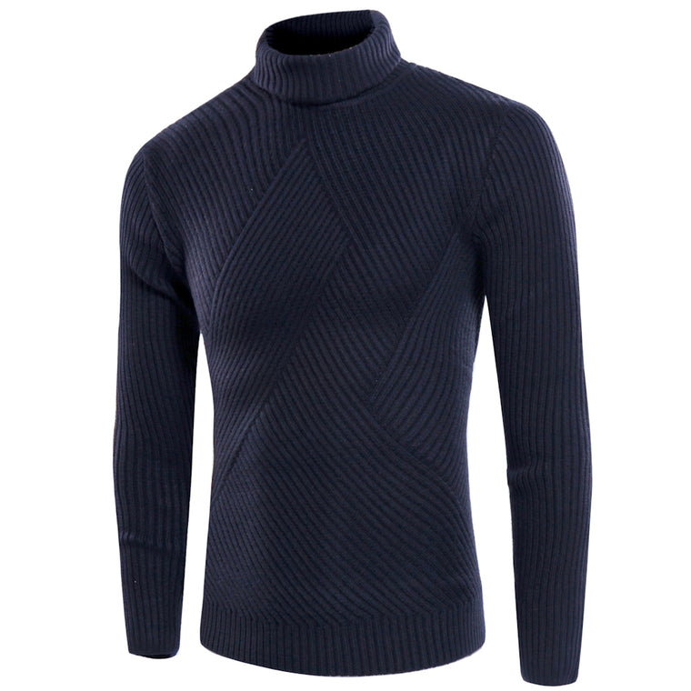 Men Sweaters 2017 mens Turtleneck Solid Long Sleeve Pullovers Men Sweater Knitwear Jumpers Jersey Hombre Winter Sweater 3XL