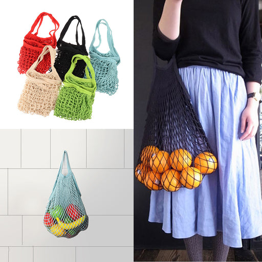 Mesh Net Shopping String Bag Reusable Turtle Bag for Kitchen Foldable Hanging String Fruit Storage Handbag Totes Wholesale