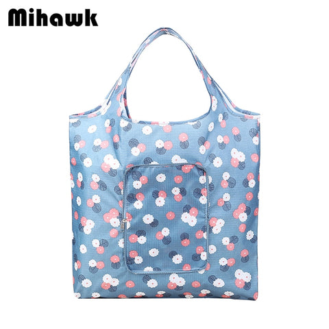 Mihawk Waterproof Shopping Bags Travel Reusable Grocery Bag Oxford Economic Folding Pouch Accessories Items Gear Stuff Supplies