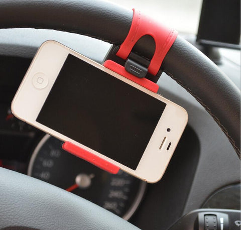 Mini Car Steering-Wheel car Clip Mount Holder Phone For xiaomi  iphone 5 5s 6 6s plus GPS phone cases holder for mobile