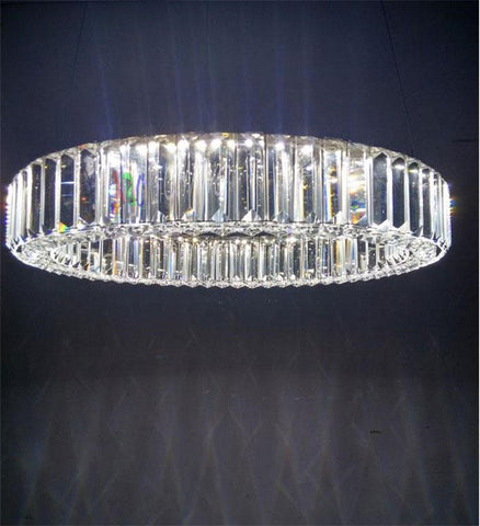 Modern hanging pendnat lights Diamond Ring Led K9 Crystal Lustre LED Light Pendant Lamp Circles FOR Dining room or living room