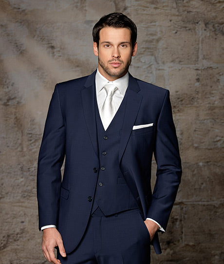 0d4f4b59ef Muriel Lester Navy Blue terno masculino suits men 2017, Groomsmen Groom  Tuxedos Party Prom Business