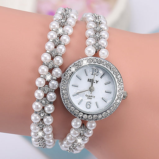 NanBo Quartz Watch Women Gold Pearl Jewelry Steel Bracelet Wristwatch Women Female Ladies Crystal Casual Fashion Watch