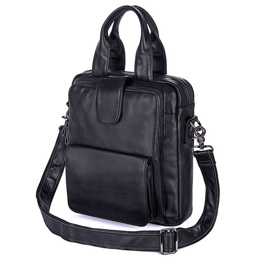 Nesitu High Quality Black Genuine Leather Men Briefcase for ipad Portfolio Male Messenger Bags Real Skin Shoulder Bag M7266