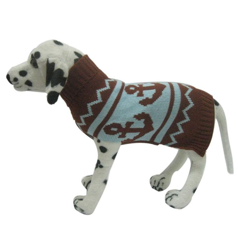 New Anchor Pattern Pet sweater for autumn winter warm knitting ...