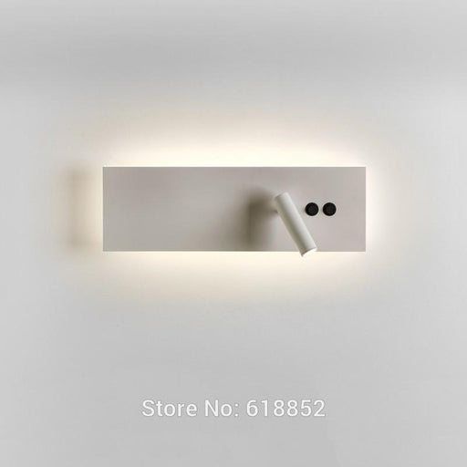 New Edge Wall Lamp on/off Switch Luxury Hotel Retrofit Main Light and Reading Light Working Independently Matte White/Black