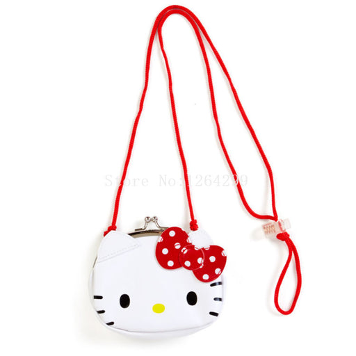 New Fashion Hello Kitty Girls Mini PU Coin Purse Kids Messenger Bag For Children Gifts