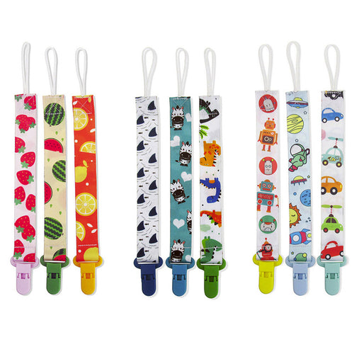 New Hot 3Pcs Baby Pacifier Chain Clip Holder