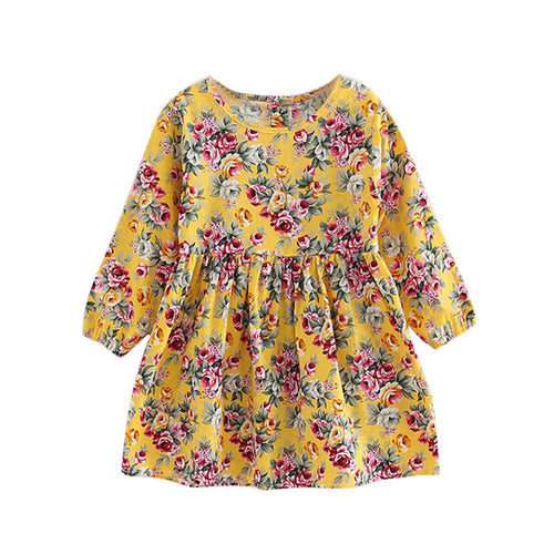 New Trend Toddler Baby Girls Dress Long Sleeve