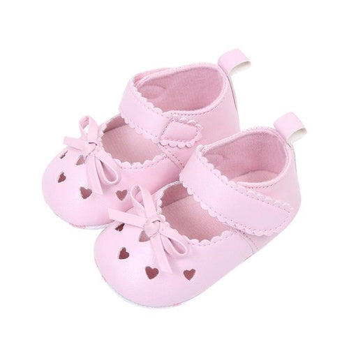 68d746eed38 Newborn Infant Baby Girls Crib Shoes Soft Sole