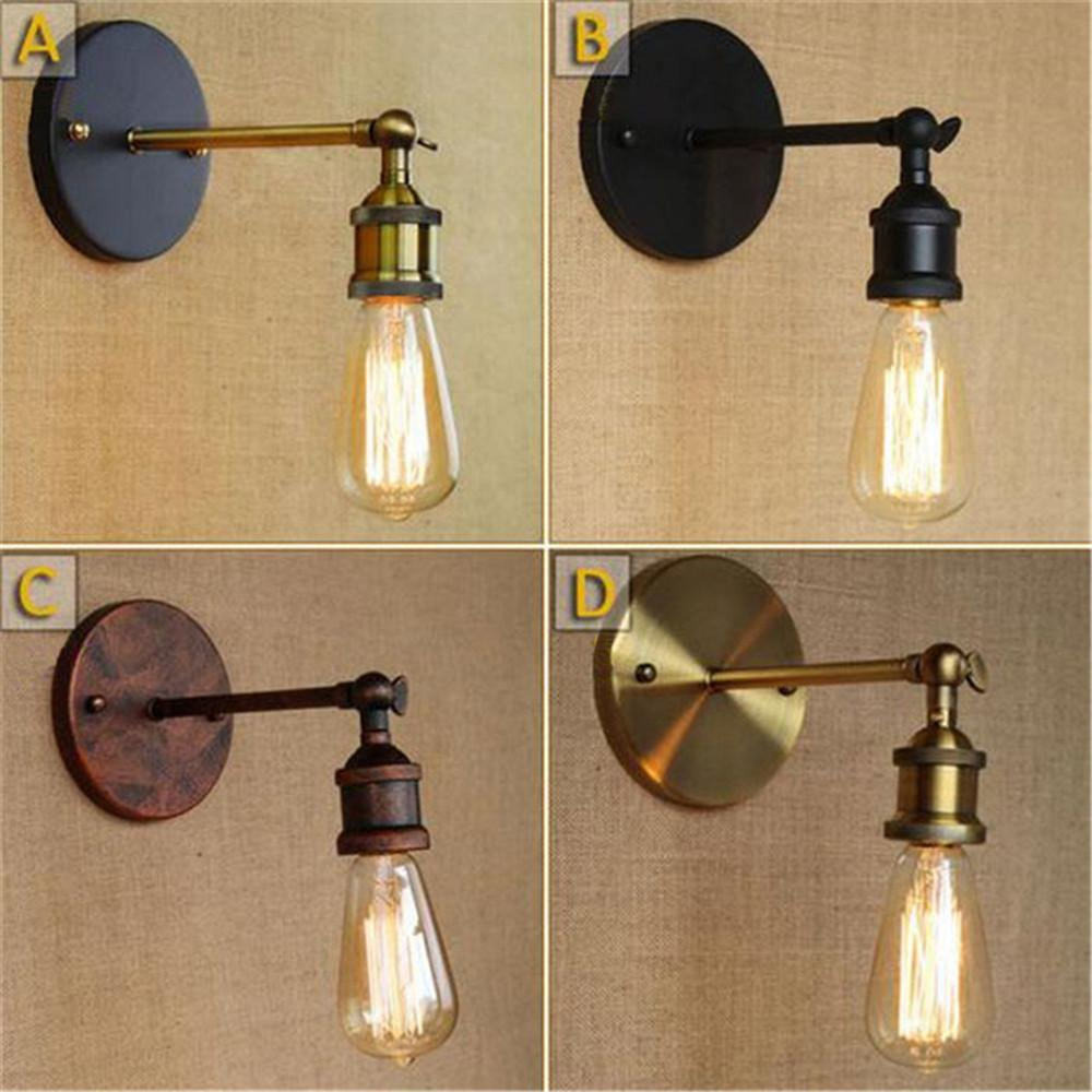 The Best Loft Vintage Black Iron Stretch Retractable Wall Sconce,telescopic Arm Swing Wall Light Deco Arandela Stretch Length Adjustable Wall Lamps Lights & Lighting