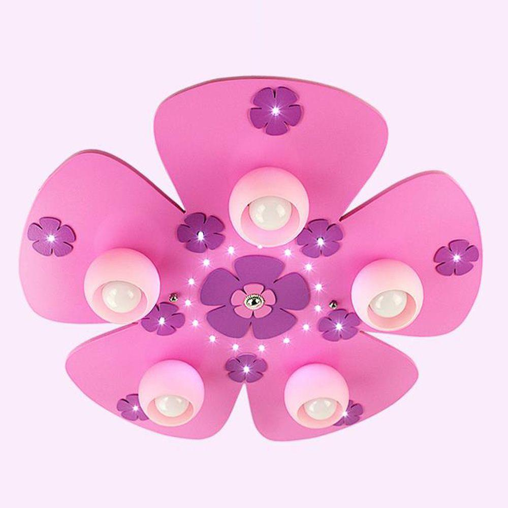 Oovov Cartoon Pink Flowers Childrens Room Ceiling Lamps Fashion