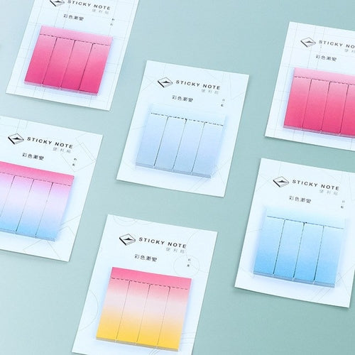 Office Supplies kawaii Gradient color memo pads
