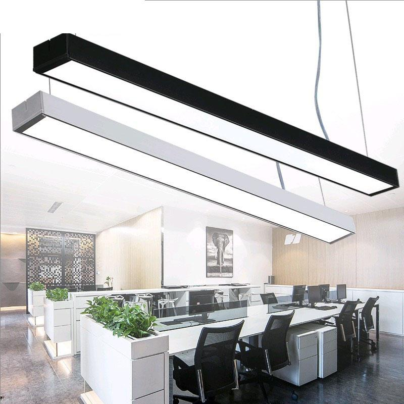 Office chandeliers led strip lights office building creative