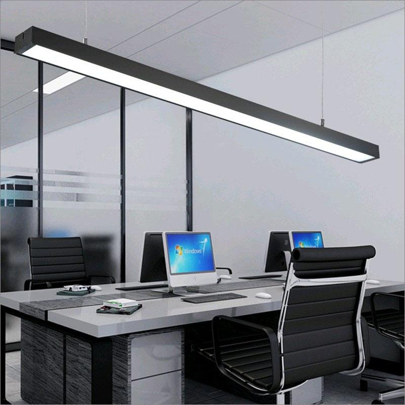 lights for office. office chandeliers led strip lights office building creative aluminum  rectangular hanging line lamps fixture for