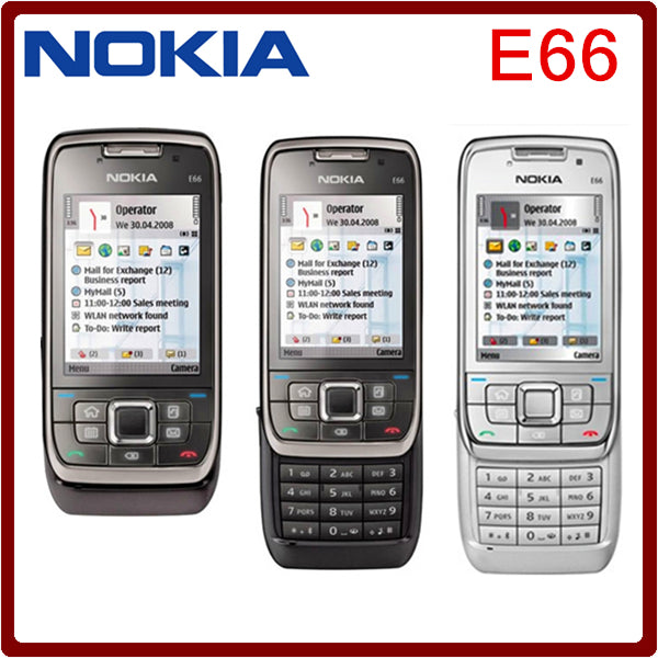 Original Nokia E66 Unlocked 3G Mobile Phone WIFI GPS Bluetooth Russian  Keyboard Slider Phone in stock