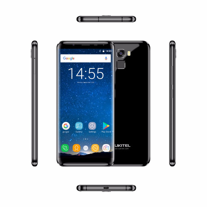 Oukitel k5000 5 7 Inch 18:9 Aspect Ratio Screen Cellphone android 7 0 4GB  RAM 64GB MTK6750 Octa Core 16MP Touch ID 4G Smartphone