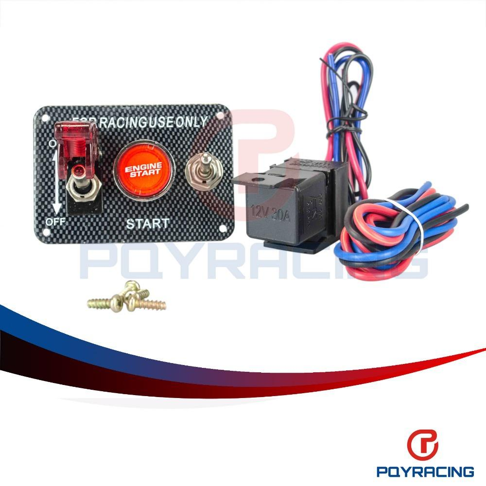 Pqy Racing Car Electronics Switch Kit Panel Engine Start Race Wiring Button Toggle With Accessory