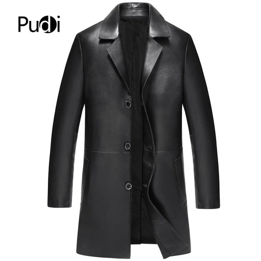 PUDI MT823 2018 Men new fashion sheep leather jackets turn-down collar fall winter casual outwear
