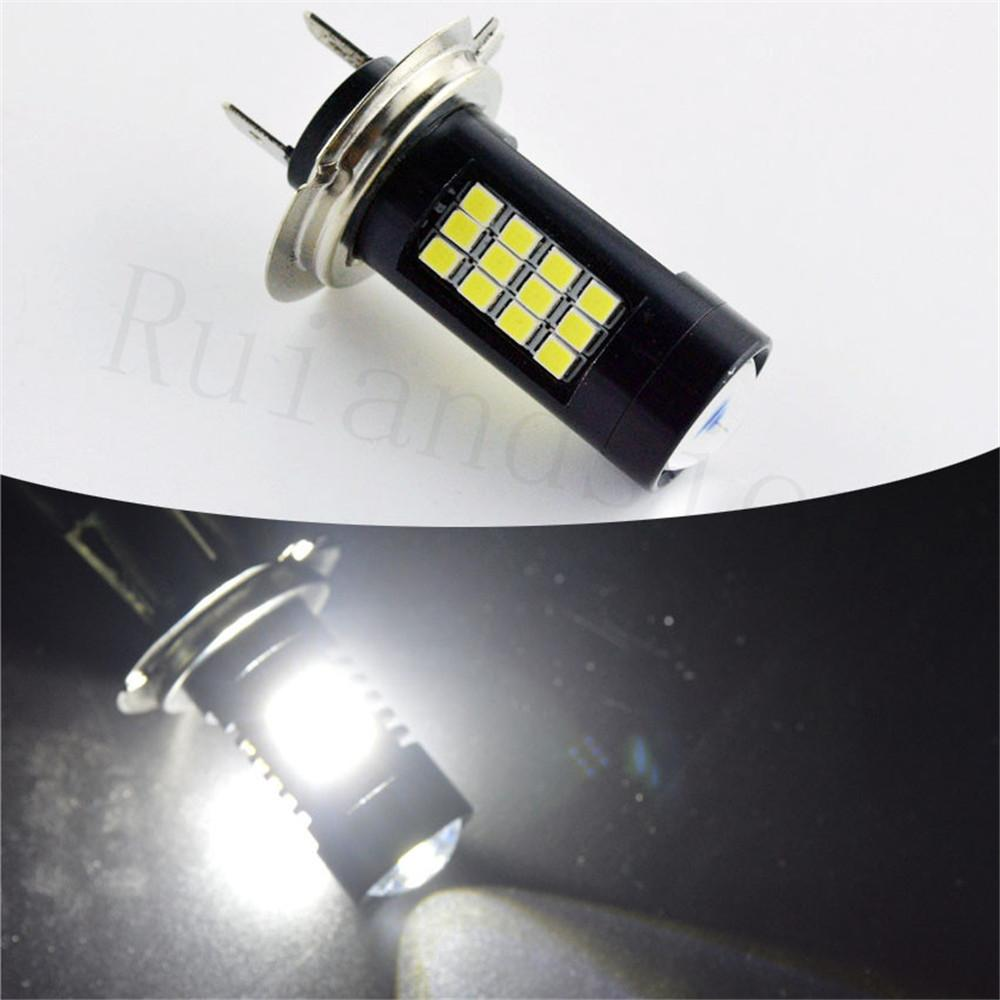 Pair 2x54w 12v 24vdc White Canbus Led Lamp 54w 42chips 2835 H7 4w Fluorescent Driver Driving