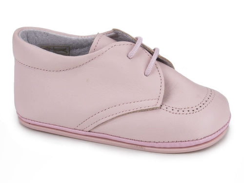 Classic Soft Leather Booties for Girls Pink by