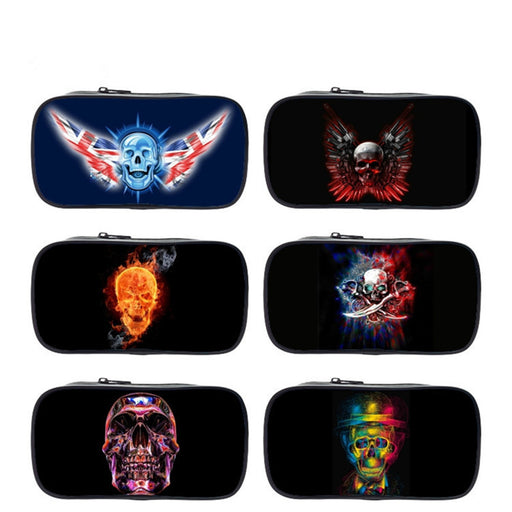 Pencil case 2018 skull Fashion Children Stationery school bag for Office Supplies For Kids Student cartoon Pencil bag gift