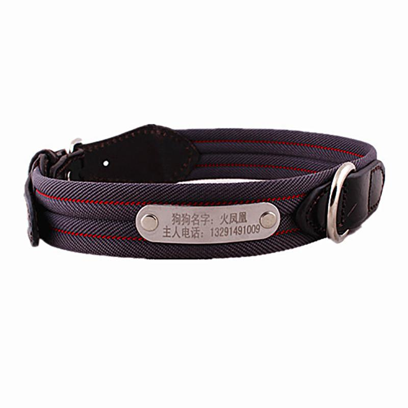 personalized safety nylon laser pet collars free leather diy metal