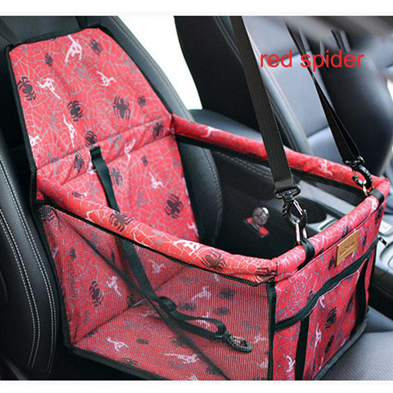 Pet Travel Bag Dog Car Seat Cover Easy Install With Leash Safety For Small Animals