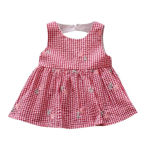 Plaid dress Newborn Baby Girls Patchwork Dress