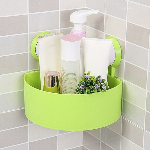 Plastic Suction Cup Bathroom Storage Shower shelf