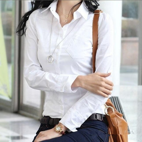 Plus Size S XXXXL 5XL Brand Tops Women Blouse Shirt Kimono White OL Office Shirt Formal Blusas Femininas Casual Blouses Cardigan