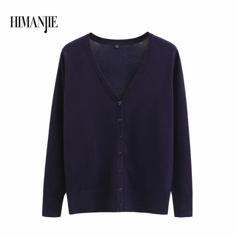 Plus size new Sweater Women Cardigan Knitted Sweater Coat Long Sleeve Crochet Female Casual V-Neck Woman Cardigans Sweater