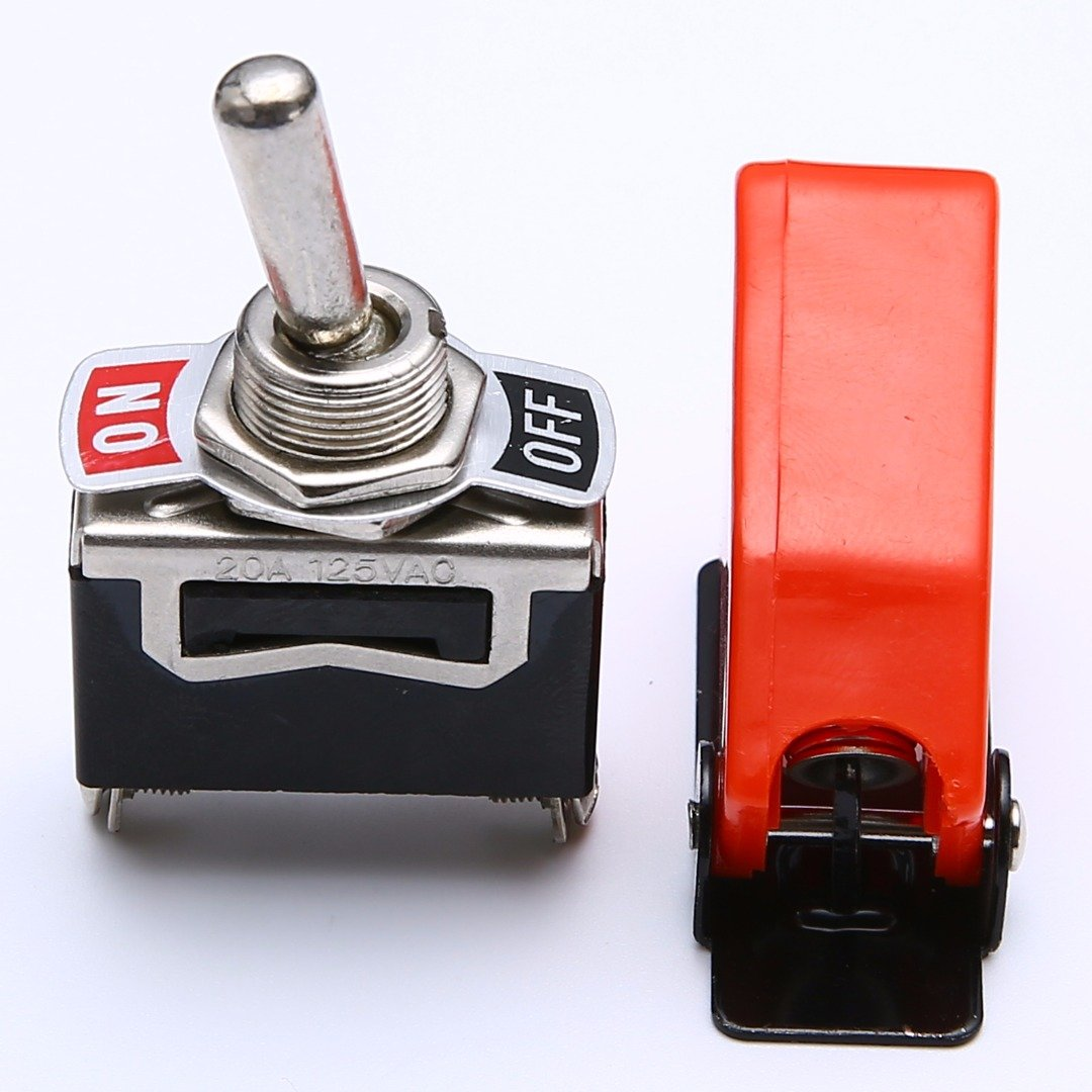 Practical Heavy Duty ON/OFF SPST Rocker Toggle Switch Metal Lever ...