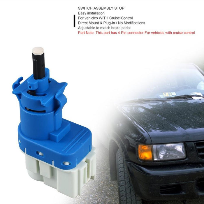 Professional FD-901A Brake Light Fail Switch Stop Lamp Pedal 4-Pin  Connector For Vehicles with Cruise Control ABS Blue Hot