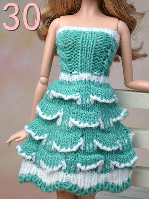 94fa906d1e Pure Manual Doll Accessories Knitted Handmade Sweater Tops Coat Dress  Clothes For Barbie Doll Gifts For